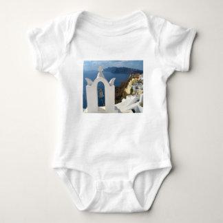 Santorini Glockenturm am Nachmittag Sun Baby Strampler