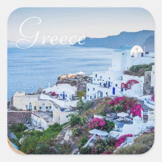 Santorini Griechenland Foto-Aufkleber Quadratischer Aufkleber