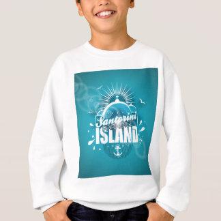 Santorini Paradies-Inselentwurf Sweatshirt