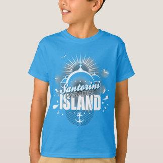 Santorini Paradies-Inselentwurf T-Shirt