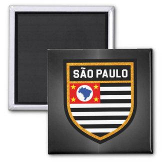 São Paulo Flagge Quadratischer Magnet