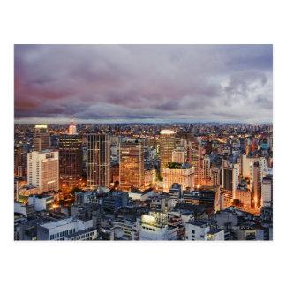 Sao-Paulo Stadtbild Postkarte