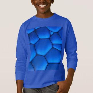 Saphir-blaue Drache-Skala T-Shirt