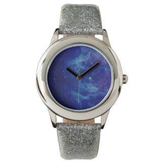 Saphir-blaue Nebelfleck-Uhren Handuhr
