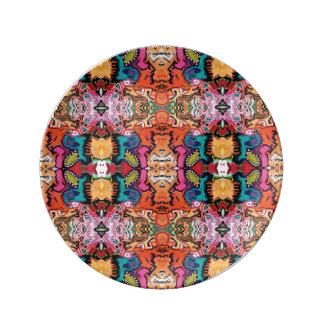 Saragui Reflexions-bunte Porzellan-Platte Teller