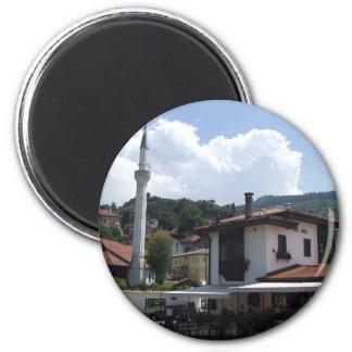 Sarajevo - Moschee Runder Magnet 5,7 Cm