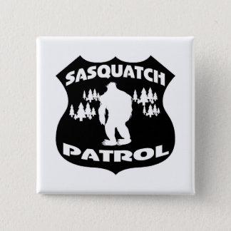 Sasquatch Patrouillen-WaldAbzeichen Quadratischer Button 5,1 Cm