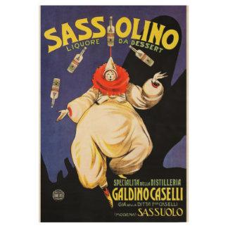 Sassolino Plakat Holzposter