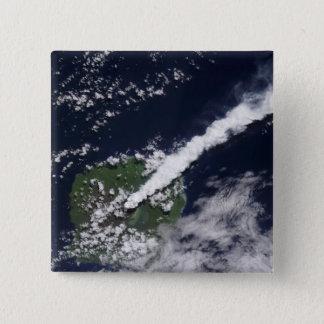 Satellitenansicht einer starken, Dampf-reichen Quadratischer Button 5,1 Cm