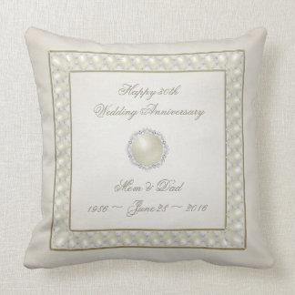 Satin-Perlen-30. Hochzeitstag-Wurfs-Kissen Kissen