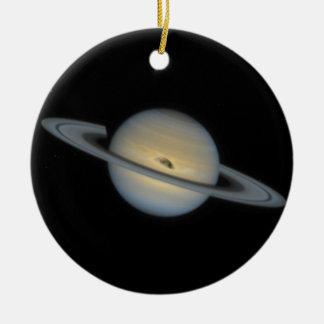 Saturn Rundes Keramik Ornament