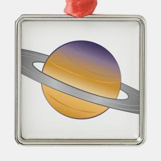 Saturn Silbernes Ornament