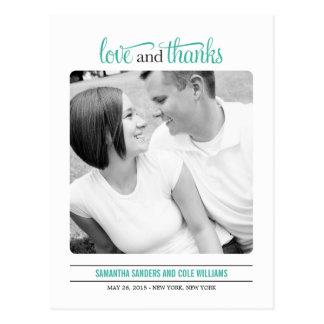 Saubere Blick-Hochzeit danken Ihnen zu kardieren Postkarte