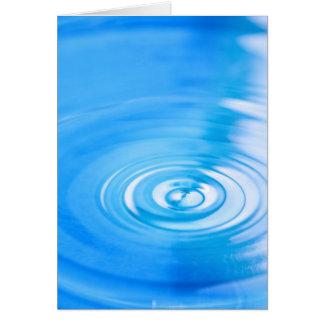 Säubern Sie Kräuselungen des blauen Wassers Grußkarte
