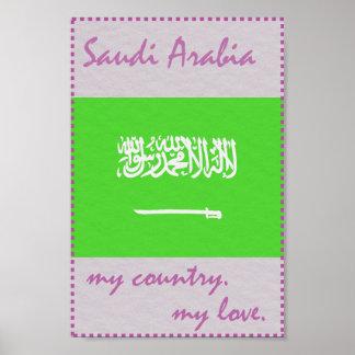 Saudi-Arabien mein Land meine Liebe Poster
