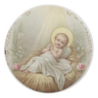 Säuglings-Baby Jesus in den Krippen-Blumen Radiergummi 1
