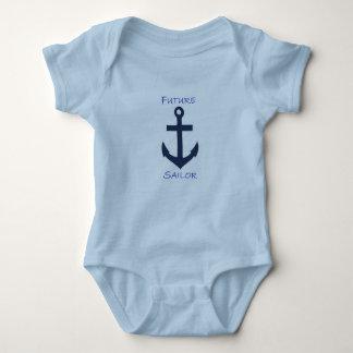 Säuglings-Strampler-Marine-Seemann Baby Strampler