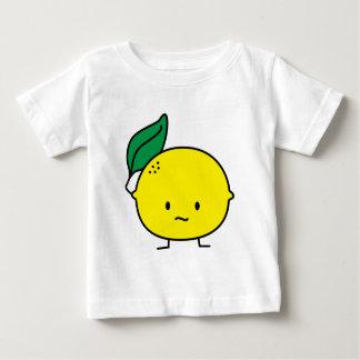 Saure gelbe Zitronenblatt-Zitrusfrucht lemony Baby T-shirt