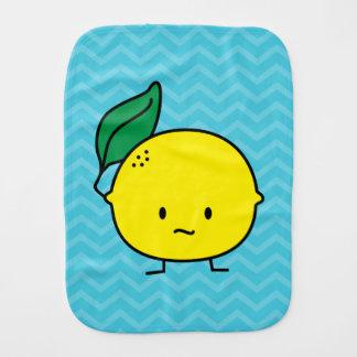 Saure gelbe Zitronenblatt-Zitrusfrucht lemony Spucktuch