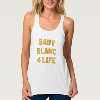 Sauvignon Blanc 4 Lebens-Goldfolien-lustiger Tanktop