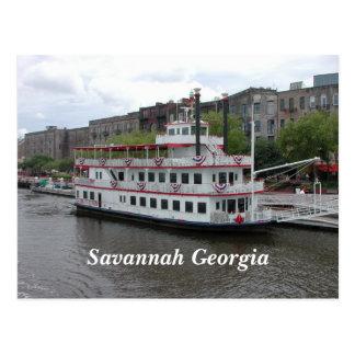 Savanne, Georgia-Flussufer Postkarte