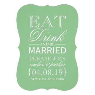 Save the Date essen Getränk u sind verheiratet