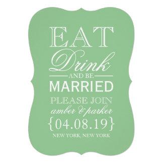 Save the Date essen Getränk u sind verheiratet Ankündigungen