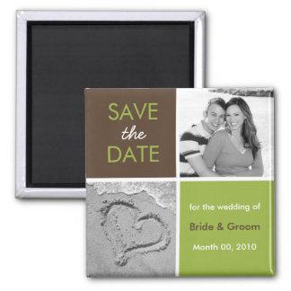 Save the Date Foto-Magneten Quadratischer Magnet