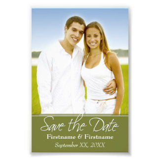 Save the Date - Hochzeit - 4 x 6 Photo Drucke