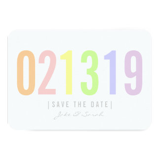 Save the Date Karte - Eiscreme-Tag
