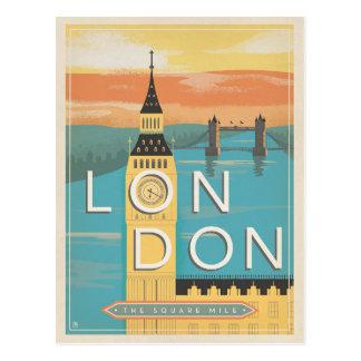 Save the Date | London - die quadratische Meile Postkarte