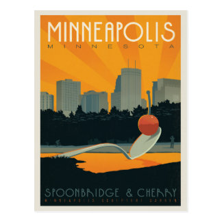 Save the Date | Minneapolis, Mangan Postkarte