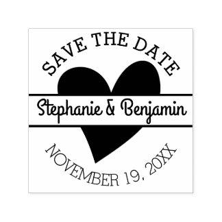 Save the Date mit Herzen und Vornamen Permastempel