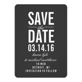 Save the Date Mitteilung | Save the Date 12,7 X 17,8 Cm Einladungskarte