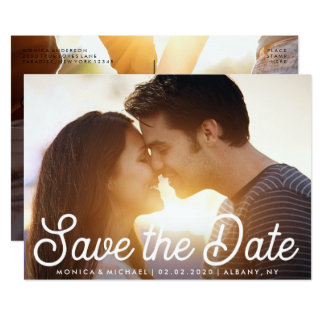 Save the Date moderne Verlobungs-Foto-Karte 12,7 X 17,8 Cm Einladungskarte
