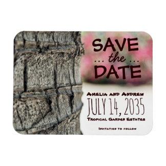 Save the Date Palme-Begonien-Hochzeits-Garten Magnet