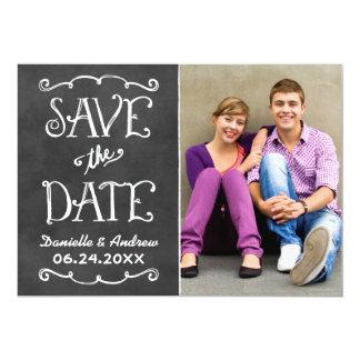 Save the Date schwarzer Tafel-Charme der Karten-| 12,7 X 17,8 Cm Einladungskarte
