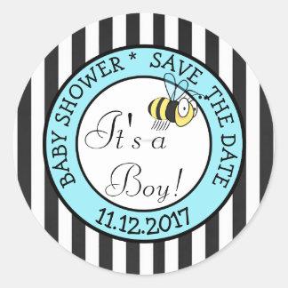 Save the Date seine Biene ein Runder Aufkleber