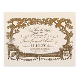 Save the Date typografische Postkarten der