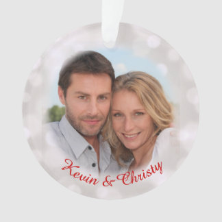 Save the Date Verlobungs-Foto-Feiertags-Verzierung Ornament