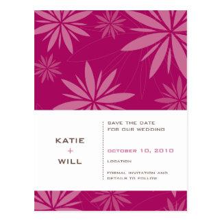 SAVE THE DATE:: Vitalität fuschia Postkarte