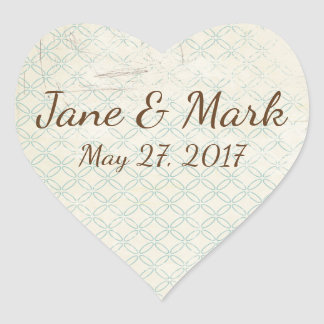 Save the Date Wedding Ereignis-Aufkleber Herz-Aufkleber