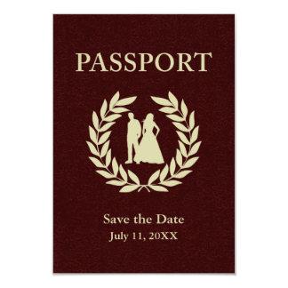 Save the Date wedding Pass 8,9 X 12,7 Cm Einladungskarte