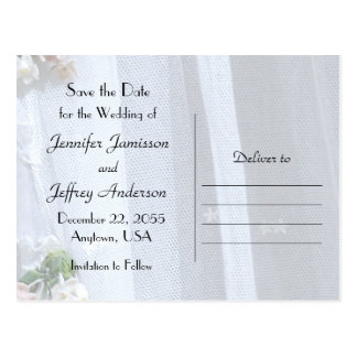 Save the Date Wedding Postkarte