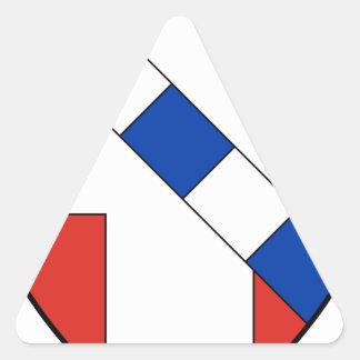 Savoie Dreieckiger Aufkleber
