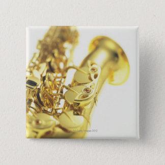 Saxophon 3 quadratischer button 5,1 cm