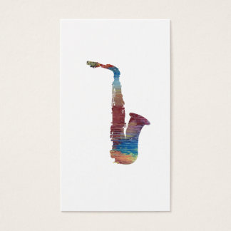 Saxophon-Kunst Visitenkarte