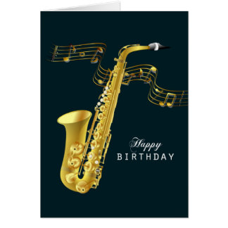 Saxophon-Musik-alles Gute zum Geburtstag Grußkarte