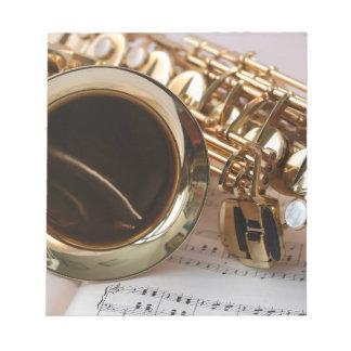 Saxophon Notizblock