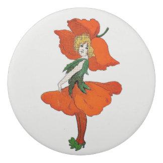 Scarlet-Mohnblumen-Blumen-Kinderniedliches Mädchen Radiergummis 0